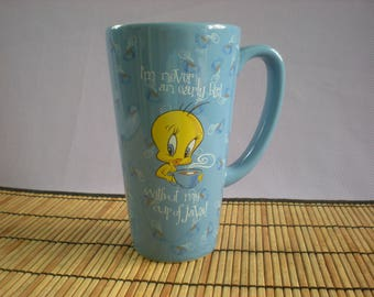 Tweety Bird Mug-Sylvester Mug-Blue Large Coffee Cup