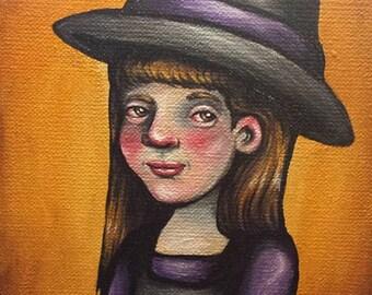 Little Witch (5x5 Art Print)