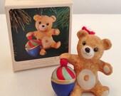 Vintage 1983 Hallmark Cinnamon Bear Keepsake Ornament