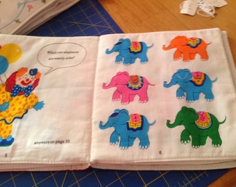 Clowns fabric book
