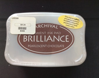 Brilliance Pigment Ink Pearlescent Chocolate