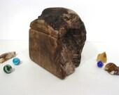 Oregon-Myrtlewood Burl Box, Oregon coast, guitar pick box, jewelry box, 5th anniversary, gratitude box, wood art, office desk organizer