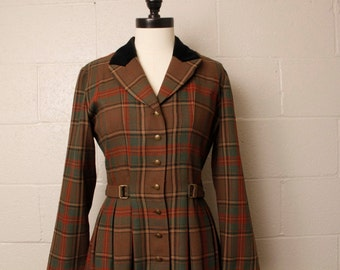 Vintage 1990's Edwardian Style Plaid Dress 8