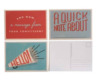Political Action Postcards - Set of 12 - Write to Congress and Elected Officials