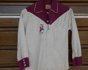ROY ROGERS Vintage 1950 era Cowboy Shirt