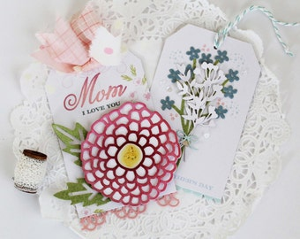 Mom I Love You and Happy Mother's Day Tags