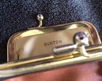 Vintage buxton leather change purse