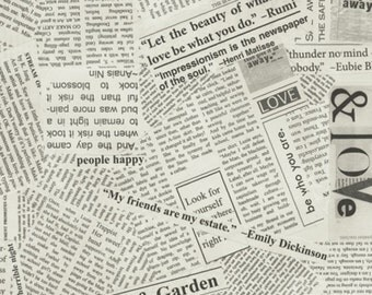 WINDHAM Spackle Newsprint 36530B-5 Yardage Story Dreamer by Carrie Bloomston