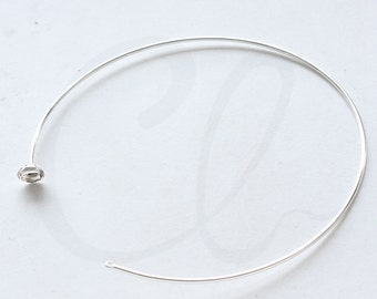 One Piece Premium Silver Plated Necklace Component - Choker (3307C-I-522)