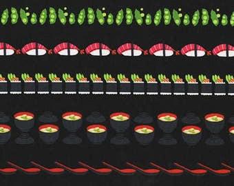 One (1) Yard - Conveyor Sushi Fabric Michael Miller DC7463-LACQ-D