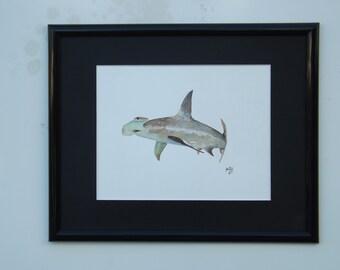 Hammerhead Shark original acrylic painting