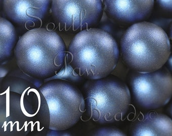 Swarovski crystal beads 10mm Iridescent Dark Blue pearl beads Style 5810 (10)