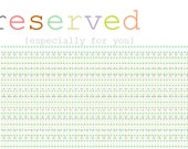 RESERVED FOR J