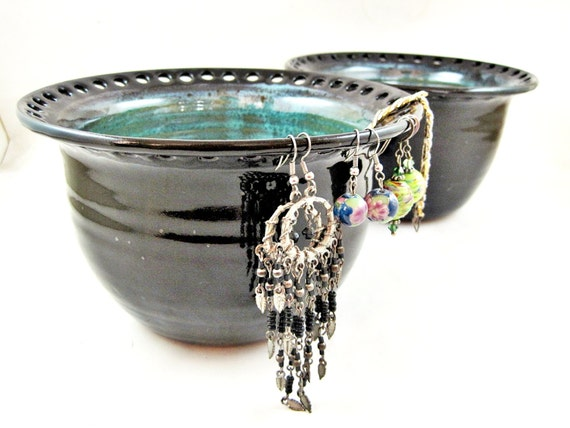 Large Earring holder, Large Earring bowl, Jewelry Bowl, organizer - In stock