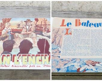Vintage 1930/1950  French childrens book  JEHAN l'enchanteur /histoires racontées par un vieux cheminot