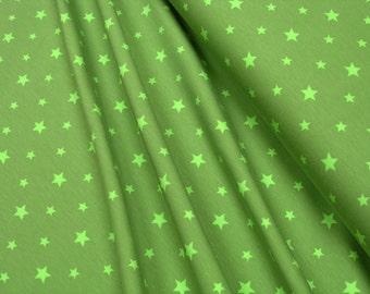 Jersey • Little Darling • stars light green on lime green •  0.54yd (0,5m) 002929