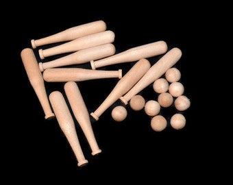 Moonbeamgifts loved by 1 163 etsy shoppers handmade hunt for Mini baseball bats for crafts