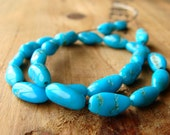 Blue Turquoise Nugget Beads, Castle Dome Turquoise Nuggets, Small Turquoise Nuggets, 8-10mm, (25), 10% off use code SAVE10