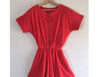 Vintage Terrycloth Shorts Romper Jumper