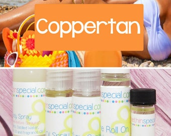 Coppertan Perfume, Perfume Spray, Body Spray, Perfume Roll On, Perfume Sample Oil, Dry Oil Spray, 5 Different Product Choices