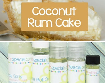 Coconut Rum Cake Perfume, Perfume Spray, Body Spray, Perfume Roll On, Perfume Sample Oil, Dry Oil Spray, You Pick the Product You Want