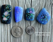 Sky ....  glass cabochons ... artsy, handmade glass designer cabochons by Mikelene Growing Edge Glass