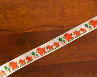 Vintage Trim  -  Embroidered Elephants 70s  Juvenile New Old Stock Adorable Animals