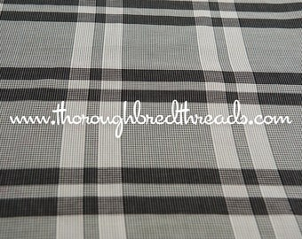 Mad About Plaid - Vintage Fabric Classic Black and Off White