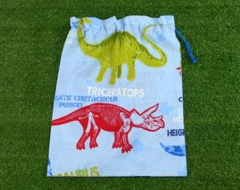 Dinosaur skeletons medium drawstring bag, toy bag, shoe bag, book bag