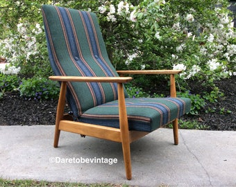 Sold Mid Century Modern Milo Baughman Style for Thayer Coggin Reclining Rocker Chair - Danish Modern : danish recliner chair - islam-shia.org