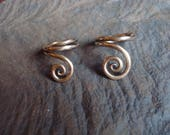 Reserve Order for ETSY User Catrianna  Two Bronze Spiral Rings