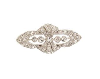 Art Deco Brooch, Antique 1920s Art Deco Rhinestone Brooch, Vintage Wedding Jewelry, Art Deco Jewelry, Antique Jewelry, Wedding Brooch