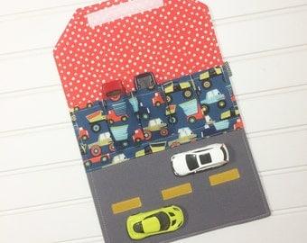 Car storage | travel toy | activity mat | Hot wheels | Matchbox | Toy holder | Toddler gift | car organizer | Quiet book | Trucks