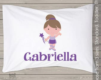 Ballerina dancer pillowcase / pillow - custom personalized  pillowcase great birthday gift PIL-059