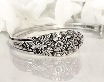Spoon Bracelet Cuff, STERLING Silver Bracelet Cuff, Spoon Jewelry, Cuff, Silver Bracelet Cuff - 1949 CROWN PRINCESS