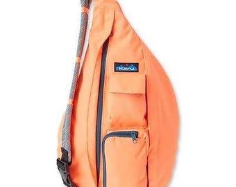 Monogrammed Kavu Rope Bags - Firecracker - Great gift for College, Teens, Women, Outdoors Satchel Crossbody Tote