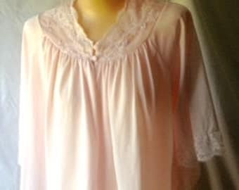 Vintage Bed Jacket Pink Lace Bed Jacket