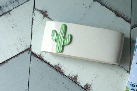 cactus business card holder