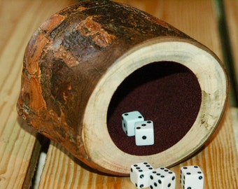 Wood dice cup - Silver Maple