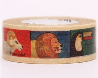 182003 zoo animal mt Washi Masking Tape deco tape