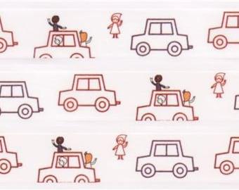 191155 white car friends Washi Masking Tape deco tape Shinzi Katoh Japan