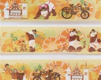 199373 orange panda fruit house Masking Tape deco tape