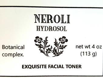 NEROLI   HYDROSOL  Helps to traps the moisture inside the skin.  Beautiful Skin. Contains Citral. PURE!