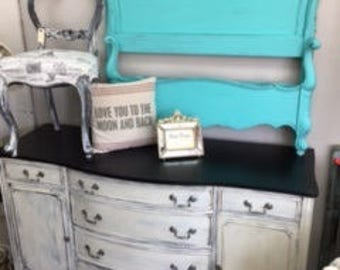 Black and White Sideboard.. Server.. Buffet... TV Console ... Dresser