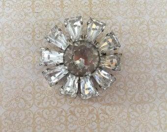 Vintage Brooch Rhinestone Retro Jewelry Bridal Bouquet