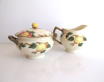 Vintage Johnson Bros. Peach Bloom Creamer Coffee Tea