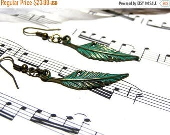 On Sale Feather Earrings Brass Earrings Top Selling Jewelry Most Popular Jewelry for Women Gift Ideas