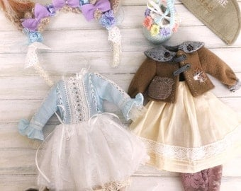 Jiajia Doll limited - Snow Squirrel Winter Set - Full Set 8 pieces for Blythe or Jerryberry Azone Pullip YOSD imda Jerryberry