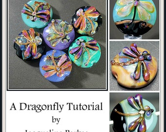 Dragonfly Lampwork Bead Tutorial by Jacqueline Parkes Ebook