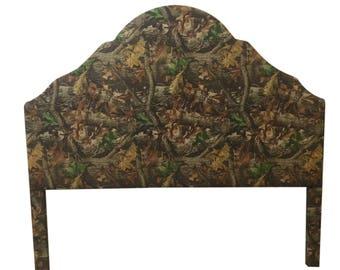 Cabin Furniture Camouflage Fabric King Size Upholstered Headboard King Size Headboard Camo Bed Camo Fabric Camo Decor